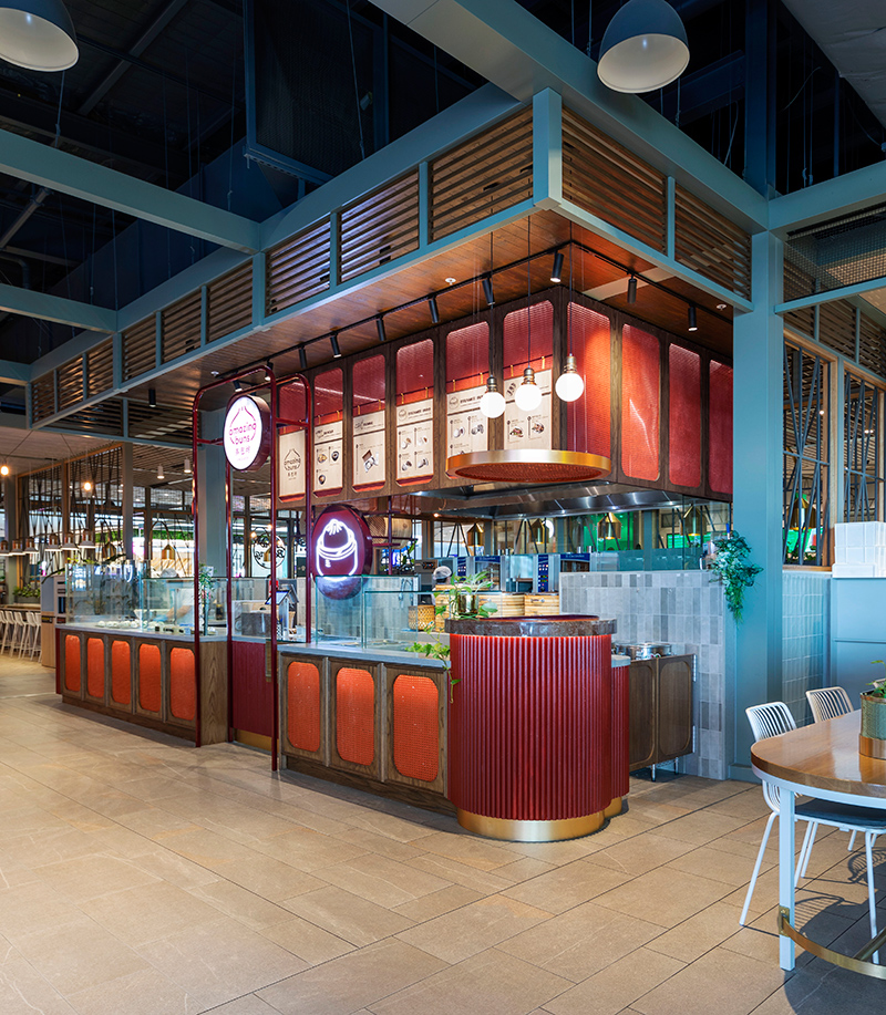 Food court Design Amazing Buns